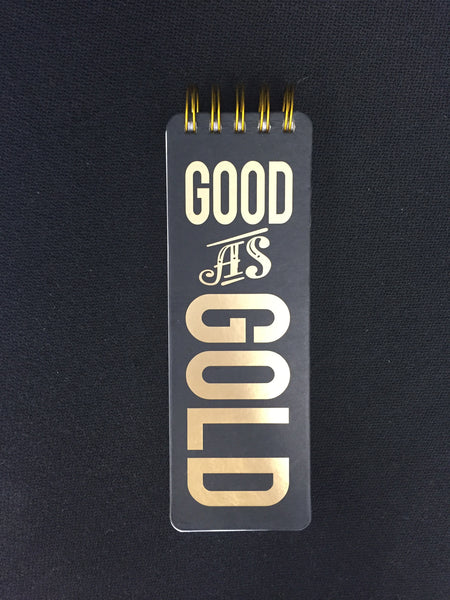 Good As Gold Note Pad