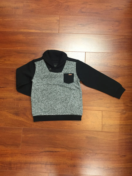 Black And Grey Pullover