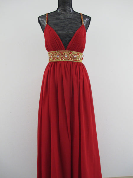 Embellished Red Cocktail Dress