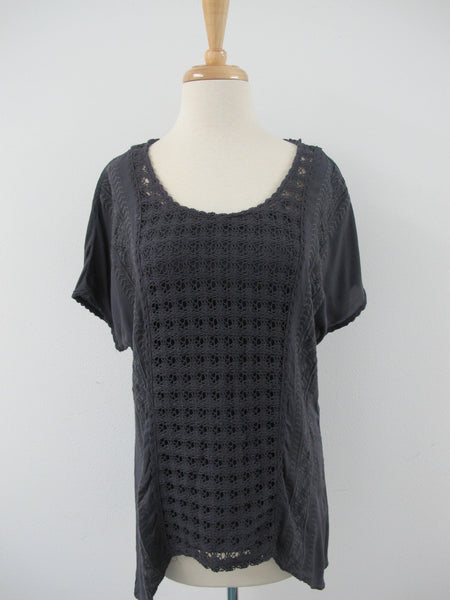 Crochet Knit top with Detachable Tank
