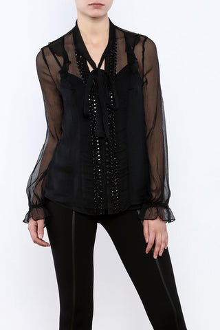 Silk beaded blouse