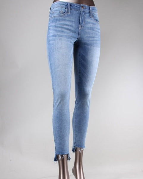 Mid Rise Cropped Skinny