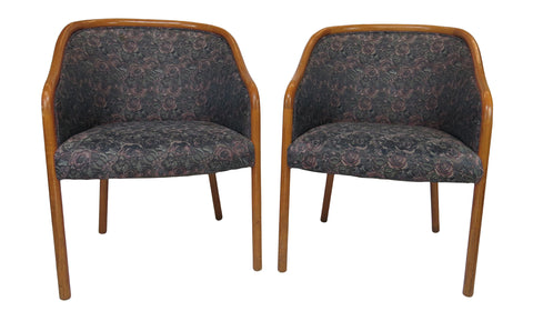 edgebrookhouse - 1960s Sculptural Bucket Chairs by Charlotte Chair Company Inc - a Pair