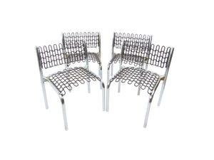 edgebrookhouse - 1970s David Rowland for Thonet Patented Softec Chair & Soflex Mesh Children's Chairs - Set of 4