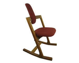 edgebrookhouse - 1970s Vintage Original Peter Opsvik for Stokke Teak Pendulum Balance Chair