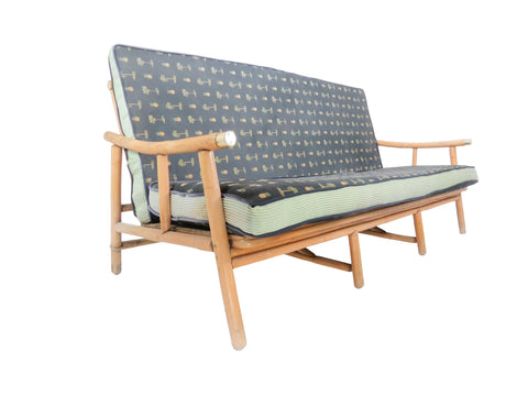 edgebrookhouse - 1950s John Wisner for Ficks Reed Campaign Rattan Sofa / Settee