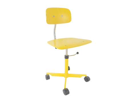 edgebrookhouse - 1960s Vintage Jørgen Rasmussen Danish Kevi Yellow Swivel Desk Chair