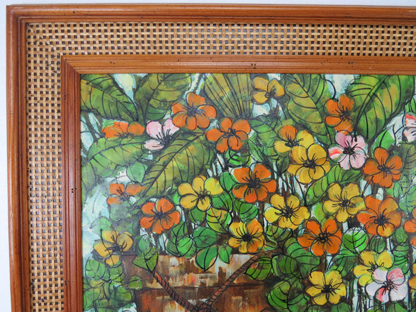 edgebrookhouse - Vintage Mid 20th Century Impressionist Still Life Oil on Canvas by Listed Artist Alisher