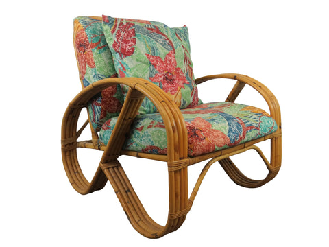 "edgebrookhouse - 1940s Paul Frankl Inspired ""Pretzel"" Bamboo Lounge Chair"