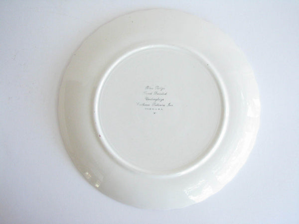 edgebrookhouse - 1940s Southern Pottery Blue Ridge Becky Ironstone Dinner Plates - Set of 4