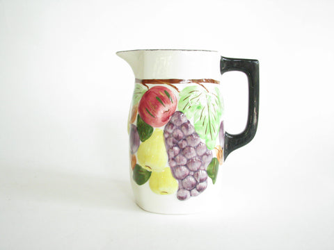 edgebrookhouse - 1940s Southern Pottery Blue Ridge Sculptured Fruit Ceramic Pitcher