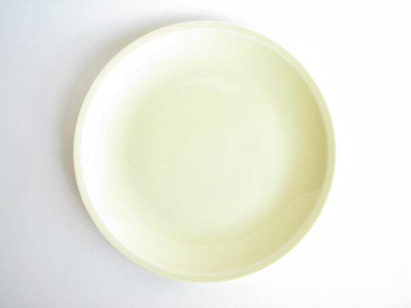 edgebrookhouse - 1950s Paden City Potteries Shenandoah Pastels Light Yellow Ceramic Serving Platter / Chop Plate