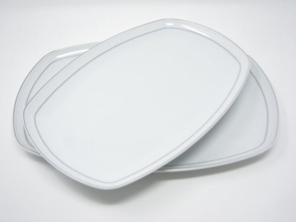 edgebrookhouse - 1950s Seltmann Weiden Rectangular Porcelain Serving Platters - Set of 2