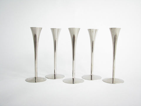 edgebrookhouse - 1960s Arthur Salm Solingen Stainless Steel Candle Holders - Set of 5