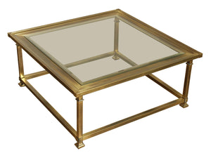 edgebrookhouse - 1960s Mastercraft Brass and Glass Coffee Table