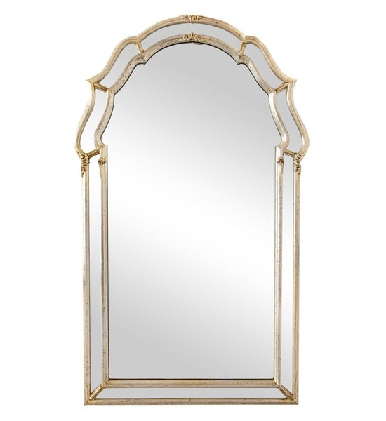 edgebrookhouse - 1960s LaBarge Italian Venetian Style Mirror With Silver Leaf Finish
