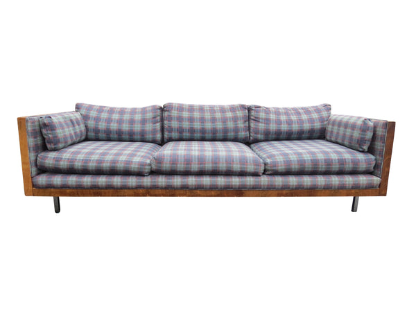 edgebrookhouse - 1960s Vintage Floating Brazilian Rosewood Case Sofa in the Style of Milo Baughman