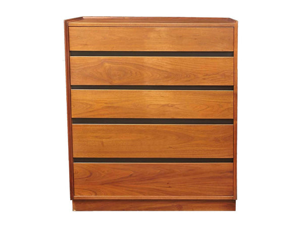 edgebrookhouse - 1970s Dillingham Esprit Walnut 5 Drawer Tall Dresser