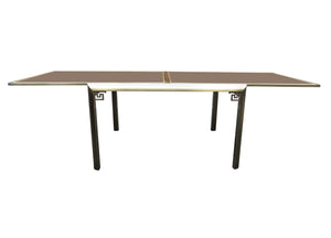 edgebrookhouse - 1970s Early Design Institute of America (DIA) Extendable Dining Table With Smoked Glass