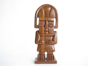 edgebrookhouse - 1970s Hand-Carved Solid Rosewood Mesoamerican Sculpture