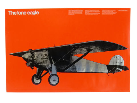 edgebrookhouse - 1976 the Lone Eagle Poster Designed by Miho for the Smithsonian Institution - Aviation Art
