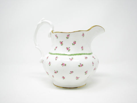 edgebrookhouse - Antique Mintons for Gilman Collamore New York Porcelain Pitcher with Hand-Painted Floral Design and Gold Detail