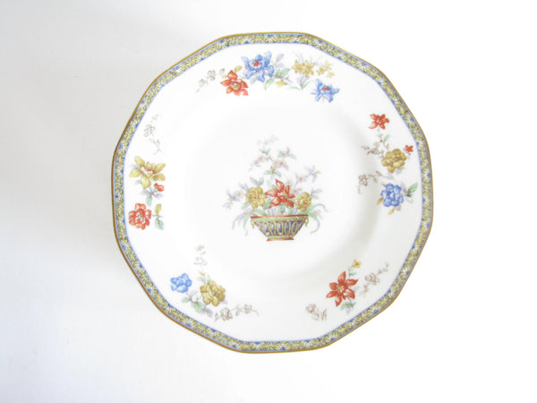 edgebrookhouse - Antique Theodore Haviland Ganga Floral Basket Luncheon or Salad Plates - Set of 12