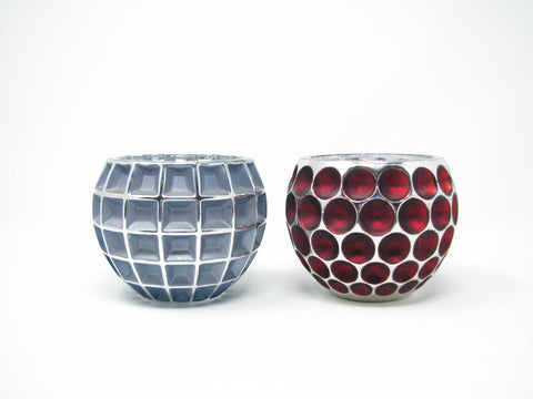 edgebrookhouse - Fitz & Floyd Fifth Avenue Glass Sphere Candle Holders - Set of 2