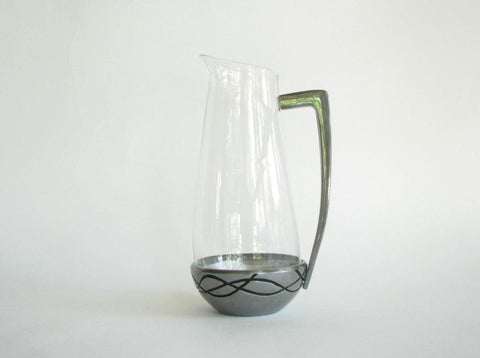 edgebrookhouse - Lenox Vibe Glass Martini or Juice Pitcher with Holloware Base and Handle