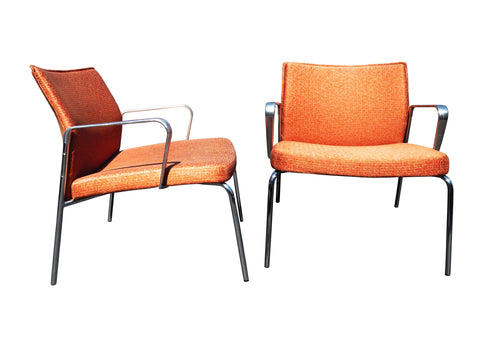 edgebrookhouse - Modern Keilhauer Cal 6611 Lounge Chairs With Arms - a Pair