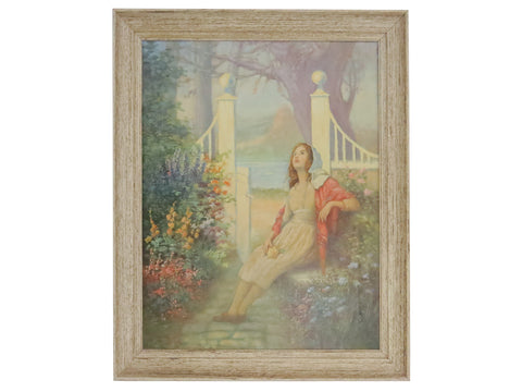 edgebrookhouse - Original Carl Reimann Oil on Canvas of a Young Girl - Framed, Signed and Dated 1933
