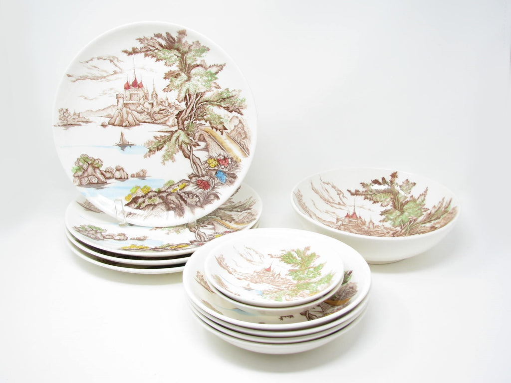 Vintage 1940s Royal Sealy Japan Chateau Paulson Partial Dinnerware Set Edgebrookhouse