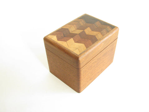 edgebrookhouse - Vintage 1980s Mark Mallia Handcrafted Parquet Wooden Decorative Box