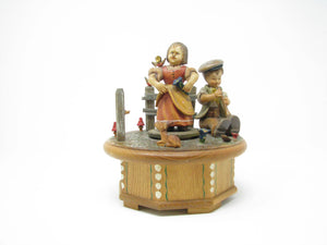 edgebrookhouse - Vintage ANRI Carved Wood Music Box with Thorens Swiss Movement - Plays True Love