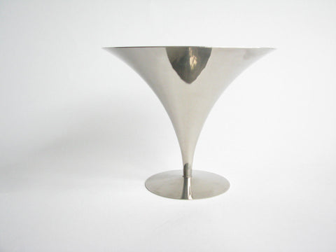 edgebrookhouse - Vintage Art Deco Arthur Salm Polished Stainless Steel Tazza by Solingen