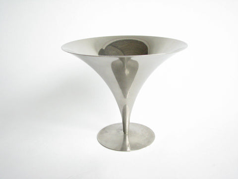 edgebrookhouse - Vintage Art Deco Arthur Salm Textured Stainless Steel Tazza by Solingen