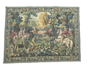 "edgebrookhouse - Vintage Belgium Tapestry by Ter Waes Ltd of Hunting Scene - ""Hawking With Emperor Maximilian"""