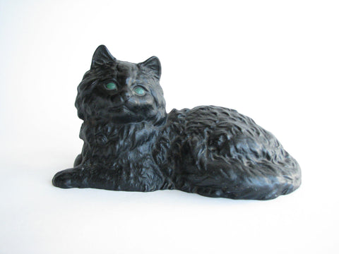 edgebrookhouse - Vintage Cast Iron Black Cat Doorstop or Decorative Piece