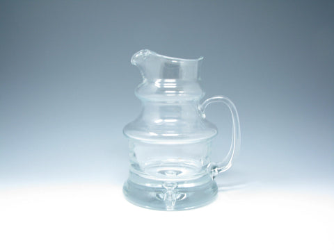 Vintage Dansk Designs Air Bubble Crystal Pitcher Made in Poland