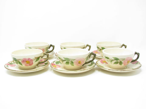 edgebrookhouse - Vintage Franciscan Desert Rose Ceramic Cups & Saucers USA - 12 Pieces