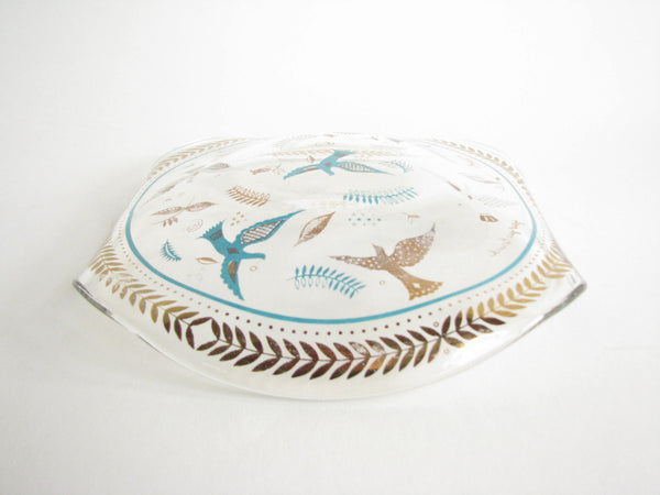 edgebrookhouse - Vintage Georges Briard Glass Decorative Dish with Bird Motif