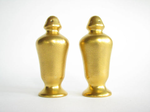edgebrookhouse - Vintage Gilded Porcelain Salt & Pepper Shakers - Set of 2