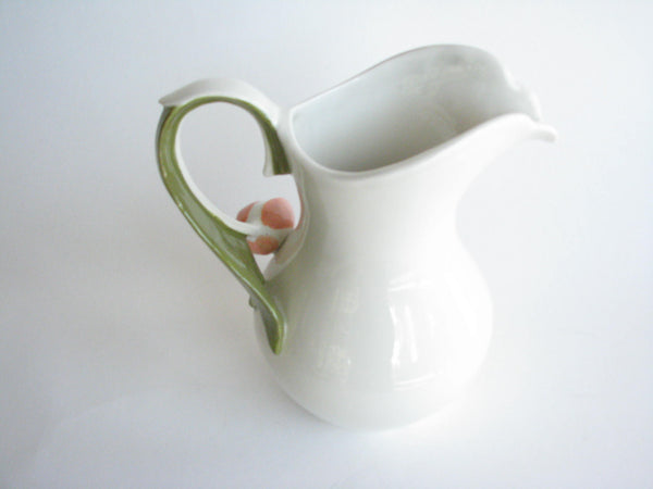edgebrookhouse - Vintage Goebel White Ceramic Pitcher with Tulip Handle