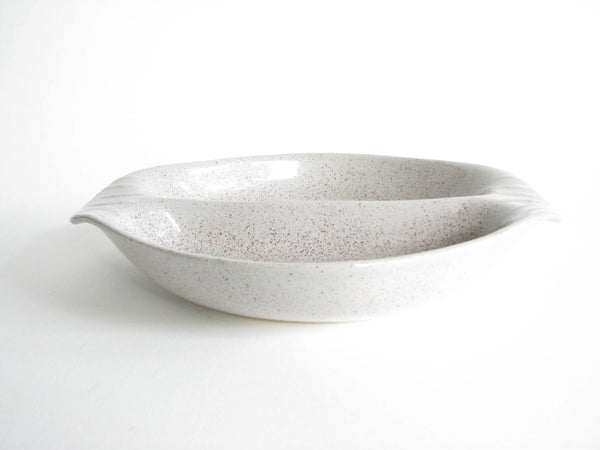 edgebrookhouse - Vintage Gray Speckled Pottery Divided Serving Dish