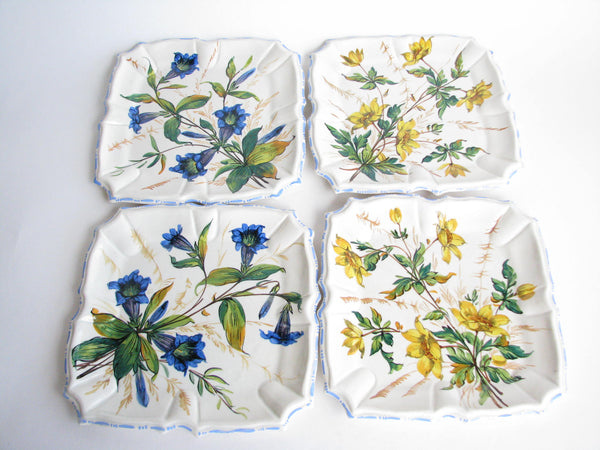 edgebrookhouse - Vintage Hand-Painted Italian Ceramic Plates for Koscherak Brothers New York - Set of 4