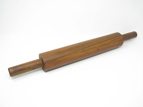 edgebrookhouse - Vintage Handcrafted Staved Zebra Wood and Walnut Rolling Pin with Handles