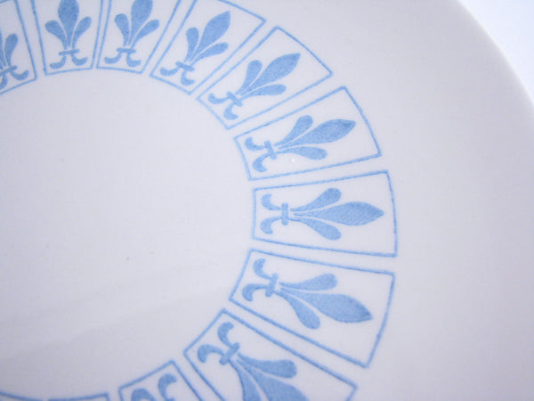 edgebrookhouse - Vintage Homer Laughlin Richelieu Fleur de Lis Bread Plates- Set of 10