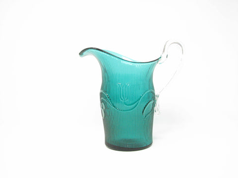 edgebrookhouse - Vintage Imperial Glass Green Bellflower Pitcher Reproduction by Metropolitan Musem of Art MMA
