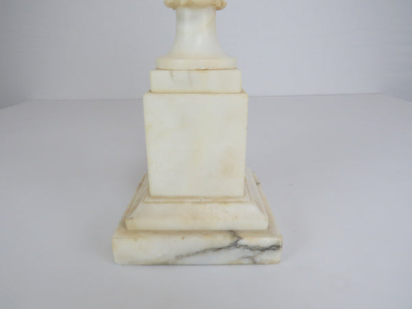 edgebrookhouse - Vintage Italian White Carrara Marble Table Lamp With Grapes and Vines