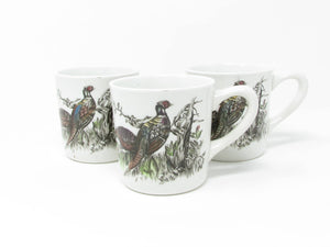 edgebrookhouse - Vintage Johnson Brothers Game Birds Pheasant Mugs - Set of 3